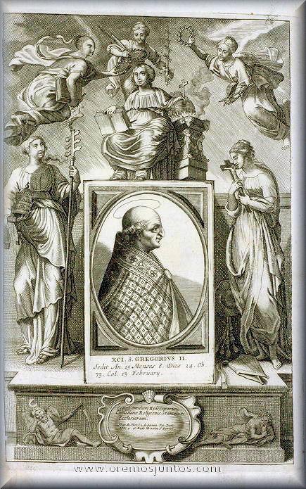 Resultado de imagen para San Gregorio II (715-731)