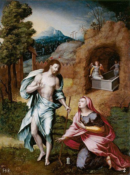 Jerónimo Cósida. Noli me tangere. No me toques, aparación de Jesús resucitado a la Magdalena.