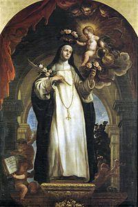 Santa Rosa de Lima por Claudio Coello (ca. 1684) Museo del Prado, Madrid.