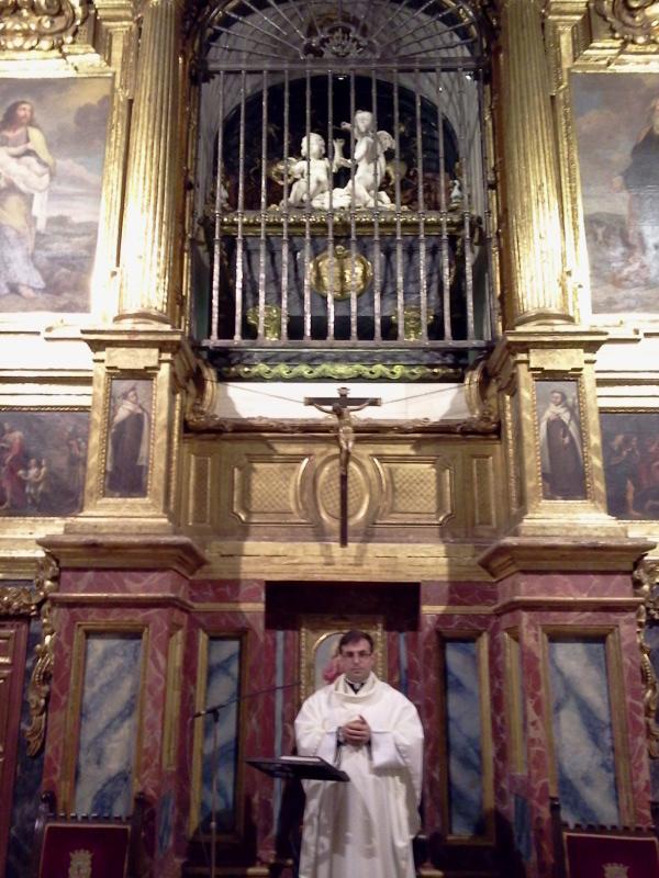 Foto tomada el 29 de septiembre de 2012 en Alba de Tormes, un 29 de septiembre la Santa Comulgó por última vez para morir el 4 de octubre