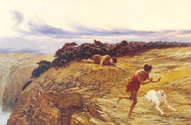Cerdos de Gerasa, S. XIX